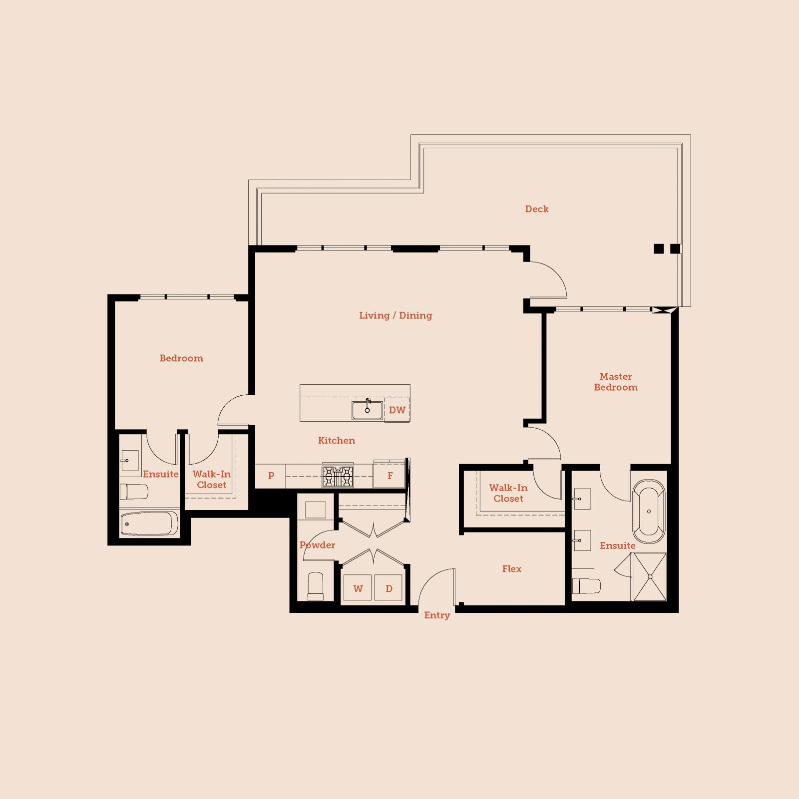 Plan Penthouse 3